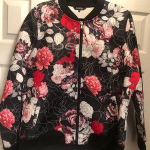 bebe floral jacket